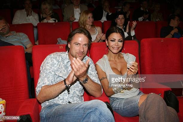 Kader Loth and friend Kim Kleinjung At The Premiere Of In Sat1 film 'Breakfast With A Stranger' in Berlin Cinestar