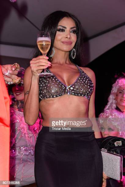 Kader Loth attends the Fashion Week Berlin Opening Night With Dandy Diary And Harald Gloeoeckler at Insel der Jugend on July 3 2017 in Berlin Germany