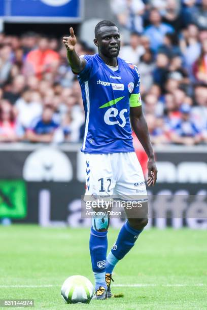 Kader Mangane of Strasbourg during the Ligue 1 match between Racing Club Strasbourg and Lille OSC at Stade de la Meinau on August 13 2017 in...
