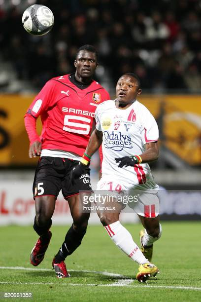 Kader MANGANE / Paul ALO'O EFOULOU Nancy / Rennes 17e journee Ligue 1 Stade Marcel Picot Nancy