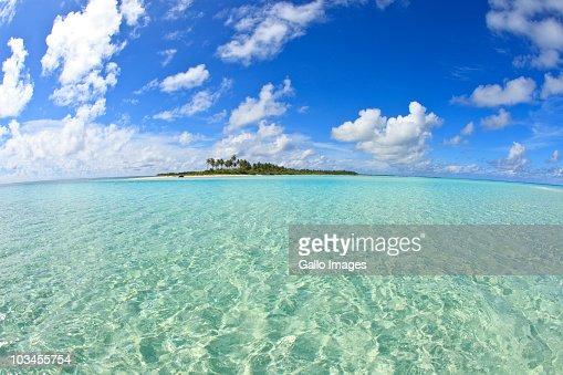 Tropical Island Beach Ambience Sound: Kadhoo Island Laamu Atoll Southern Maldives Indian Ocean