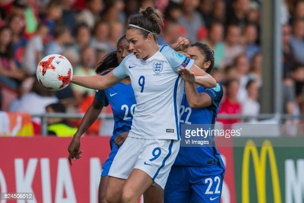 Kadidiatou Diani of France women Jodie Taylor of England women Sakina Karchaoui of France women during the UEFA WEURO 2017 quarter finale match...