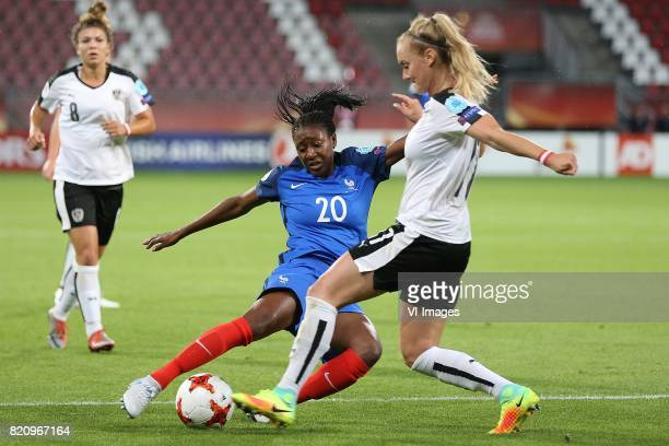 Kadidiatou Diani of France women Viktoria Schnaderbeck of Austria women during the UEFA WEURO 2017 Group C group stage match between France and...
