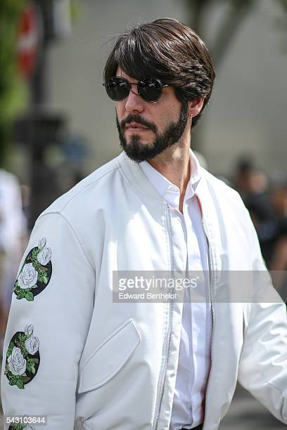 Kadu Dantas is seen after the Dior show during Paris Fashion Week Menswear Spring/summer 2017 on June 25 2016 in Paris France