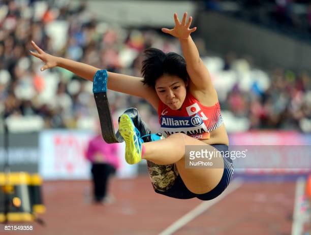 Kaede Maegawa of Japen compete Women's Long Jump T42 Final during World Para Athletics Championships at London Stadium in London on July 23 2017