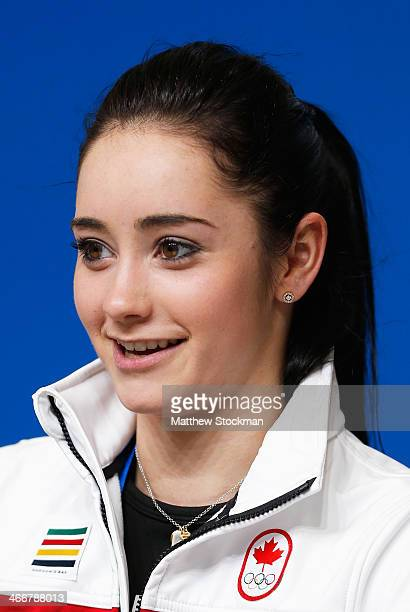 Kaetlyn Osmond attends a Canada Figure Skating press conference ahead of the Sochi 2014 Winter Olympics at the Main Press Centre on February 4 2014...