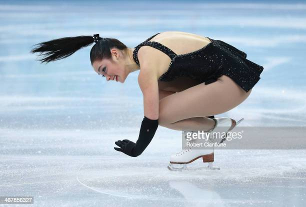 Kaetlyn Osmond of Canada competes in the Figure Skating Team Ladies Short Program during day one of the Sochi 2014 Winter Olympics at Iceberg Skating...