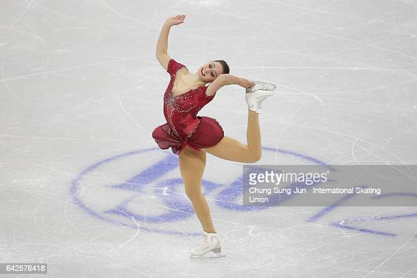 Kaetlyn Osmond of Canada competes in the Ladies free program during ISU Four Continents Figure Skating Championships Gangneung Test Event For...