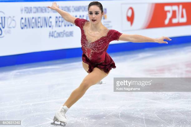 Kaetlyn Osmond of Canada competes in the Ladies Free Skating during ISU Four Continents Figure Skating Championships Gangneung Test Event For...