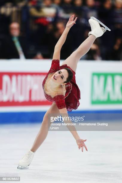 Kaetlyn Osmond of Canada competes in the Ladies Free Skating during day three of the World Figure Skating Championships at Hartwall Arena on March 31...