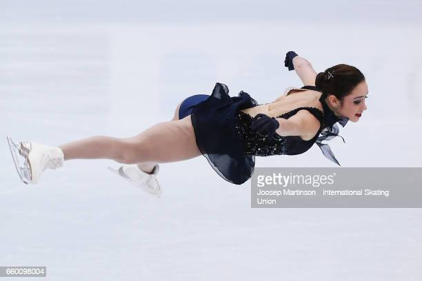 Kaetlyn Osmond of Canada competes in the Ladies Short Program during day one of the World Figure Skating Championships at Hartwall Arena on March 29...