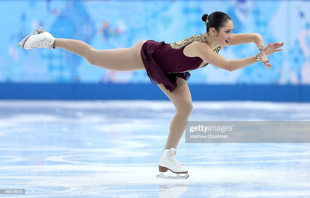 <a gi-track='captionPersonalityLinkClicked' href=/galleries/search?phrase=Kaetlyn+Osmond&family=editorial&specificpeople=9891099 ng-click='$event.stopPropagation()'>Kaetlyn Osmond</a> of Canada competes in the Team Ladies Free Skating during day two of the Sochi 2014 Winter Olympics at Iceberg Skating Palace onon February 9, 2014 in Sochi, Russia.