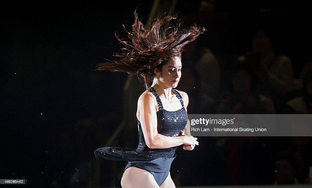 <a gi-track='captionPersonalityLinkClicked' href=/galleries/search?phrase=Kaetlyn+Osmond&family=editorial&specificpeople=9891099 ng-click='$event.stopPropagation()'>Kaetlyn Osmond</a> of Canada jumps during the Exhibition Gala on day three of Skate Canada International ISU Grand Prix of Figure Skating, November, 1, 2015 at ENMAX Centre in Lethbridge, Alberta, Canada.