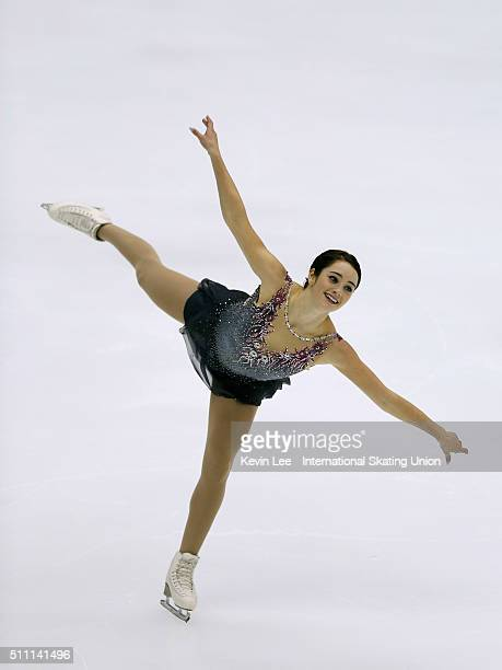 Kaetlyn Osmond of Canada performs during Ladies Short Program on day one of the ISU Four Continents Figure Skating Championships 2016 at Taipei Arena...