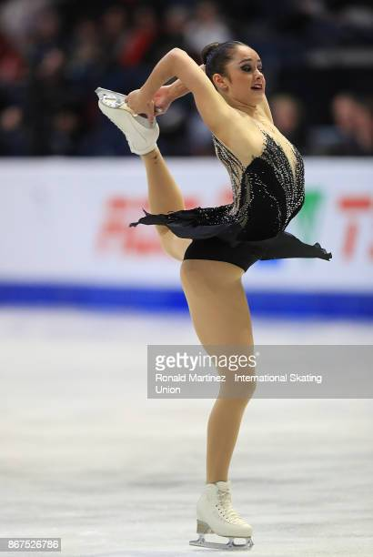 Kaetlyn Osmond of Canada performs in ladies free skating during the ISU Grand Prix of Figure Skating at Brandt Centre on October 28 2017 in Regina...