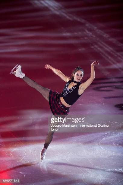 Kaetlyn Osmond of Canada performs in the Gala Exhibition during day three of the ISU Grand Prix of Figure Skating at Polesud Ice Skating Rink on...