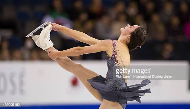 Kaetlyn Osmond of Canada skates while competing during the Ladies Short Program on day one of Skate Canada International ISU Grand Prix of Figure...
