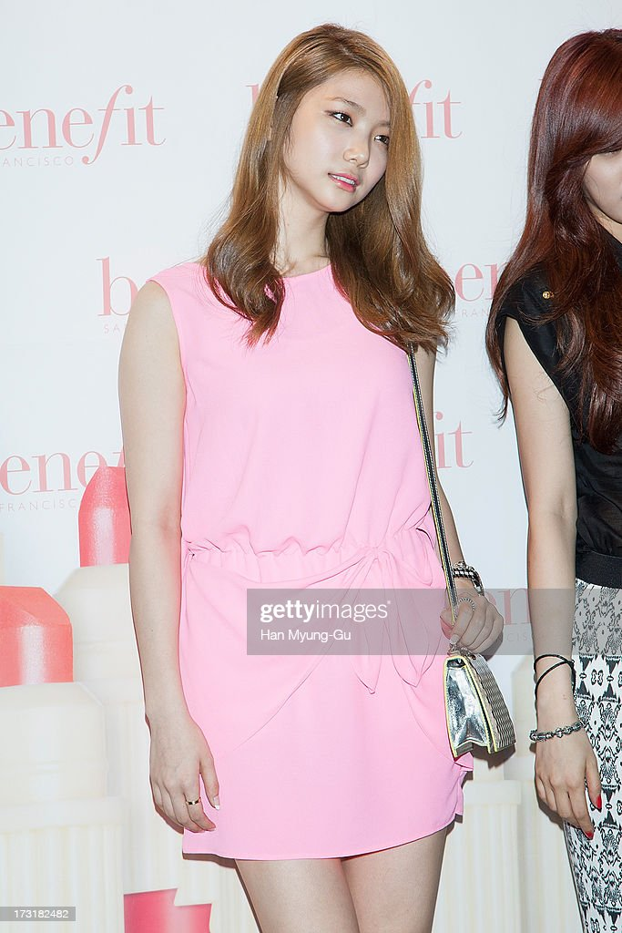 Kaeun of South Korean girl group After School attends the Benefit 'Hydra-Smooth Lip Color' launching party at JNB Gallery on July 9, 2013 in Seoul, South Korea.