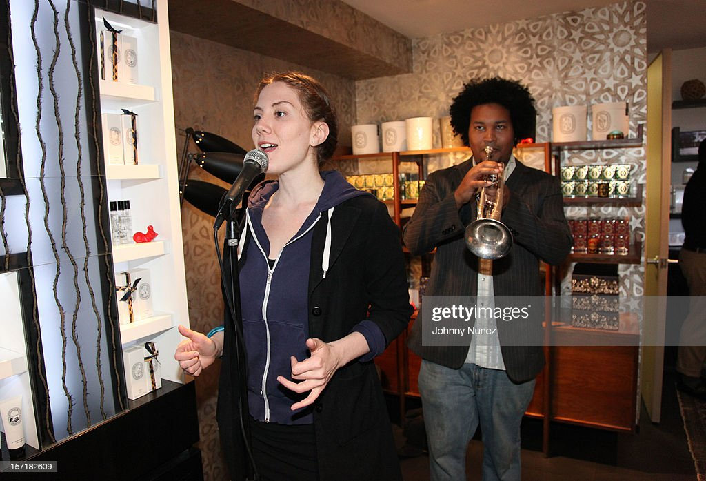 Kafele and Eliki perform at the Reserv Concierge & Diptyque holiday shopping party at the Diptyque Store on November 29, 2012 in New York City.