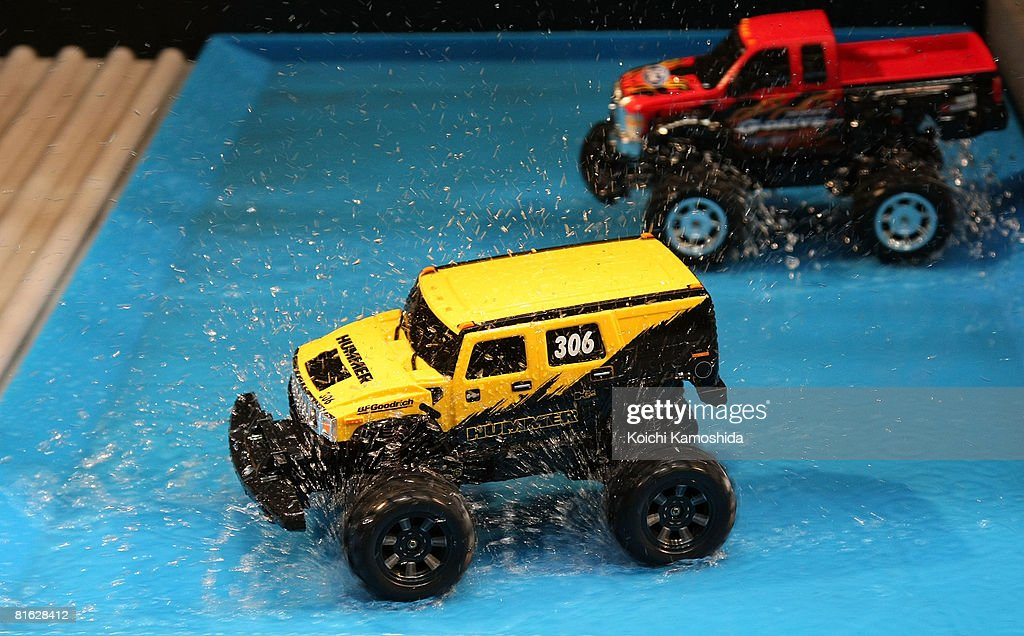 Kaga Electronics Co's water-proof raido control cars 'G-Drive' are displayed during the International Tokyo Toy Show 2008 at Tokyo Big Sight on June 19, 2008 in Tokyo, Japan. The show is held until June 22. 120,000 people are expected to visit the show over the 4 days which has 134 toy manufacturers from both Japan and abroad showing 36,000 products.