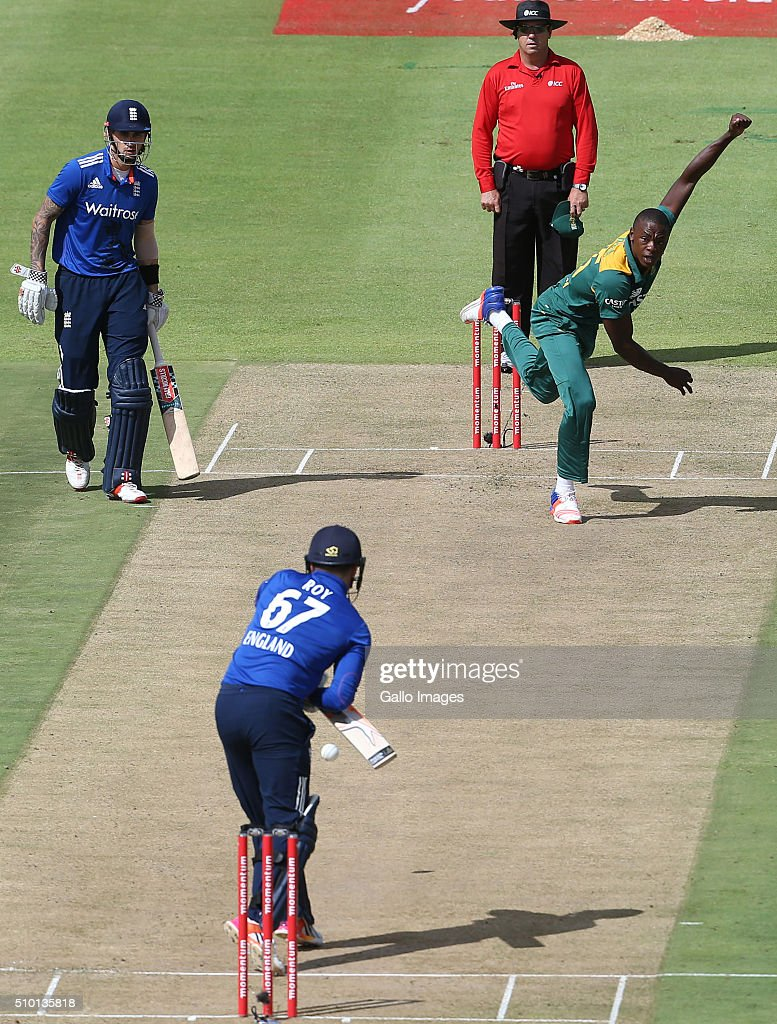 Kagiso Rabada during the 5th Momentum ODI Series match between South Africa and England at PPC Newlands on February 14, 2016 in Cape Town, South Africa.
