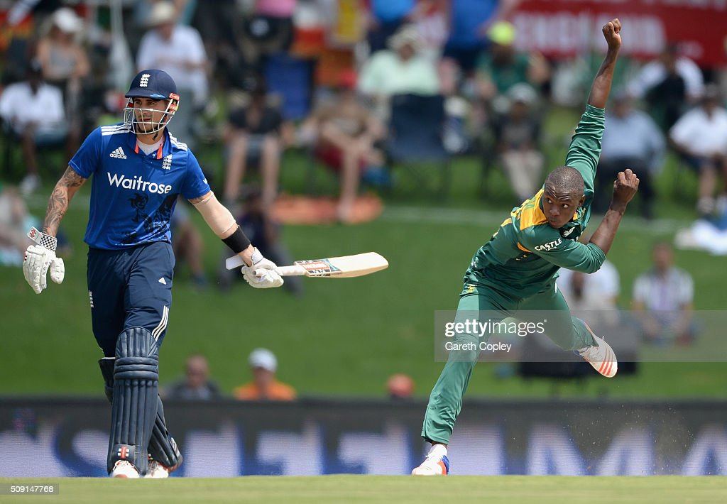 Kagiso Rabada of South Africa bowls during the 3rd Momentum ODI match between South Africa and England at Supersport Park on February 9, 2016 in Centurion, South Africa.