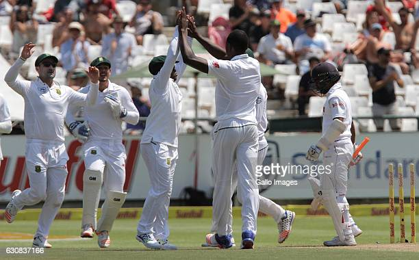 Kagiso Rabada of South Africa during day 2 of the 2nd test between South Africa and Sri Lanka at PPC Newlands on January 03 2107 in Cape Town South...