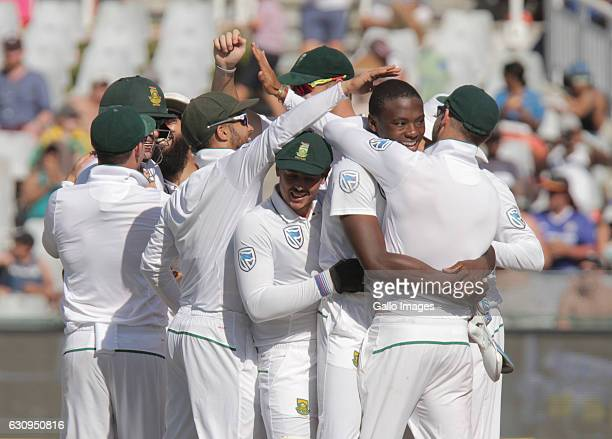Kagiso Rabada of South Africa during day 3 of the 2nd test between South Africa and Sri Lanka at PPC Newlands on January 04 2107 in Cape Town South...