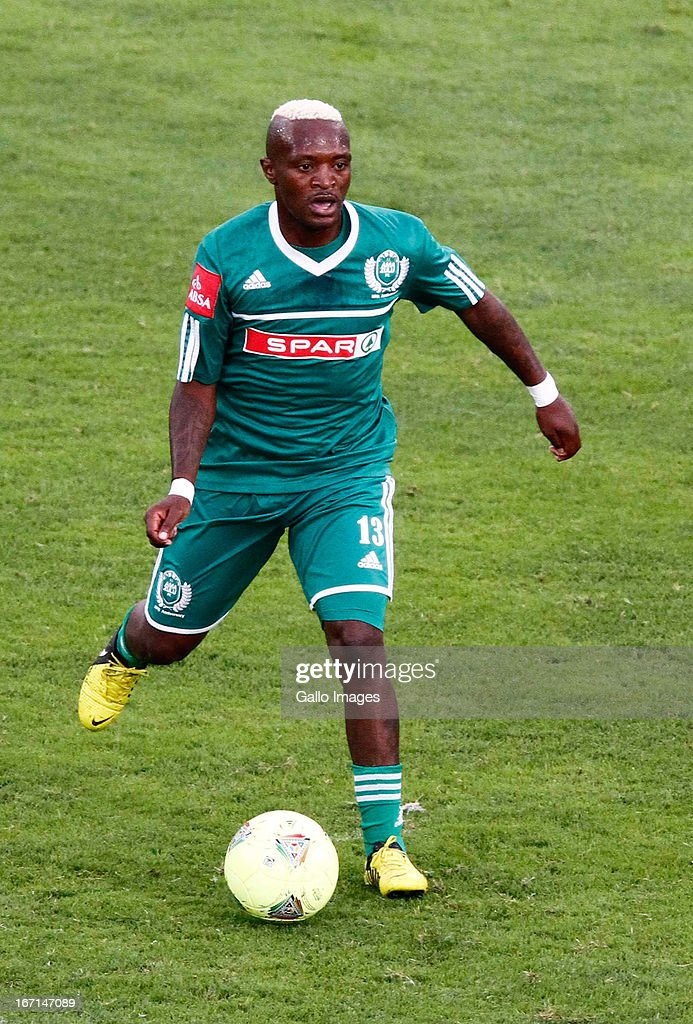 Kagiso Senamela of AmaZulu in action during the Absa Premiership match between AmaZulu and Mamelodi Sundowns at Moses Mabhida Stadium on April 21, 2013 in Durban, South Africa.