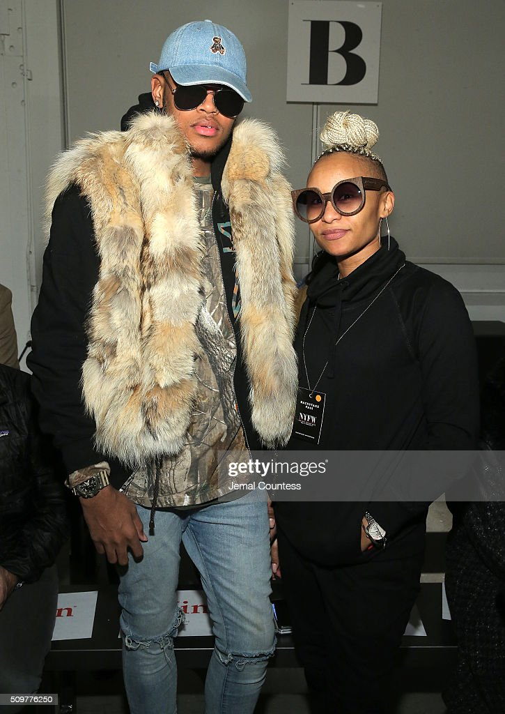 Kahh Spence and Erin Hundley attend the iiJin Fall 2016 fashion show during New York Fashion Week at Pier 59 on February 12, 2016 in New York City.