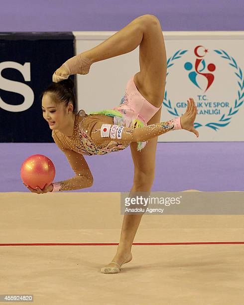Kaho Minagawa of Japan competes during the first day of 33rd Rhythmic Gymnastics World Championships in Izmir Turkey on September 22 2014