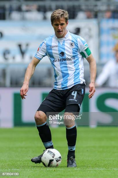 Kai Buelow of 1860 Munich controls the ball during the Second Bundesliga match between TSV 1860 Muenchen and SV Sandhausen at Allianz Arena on April...