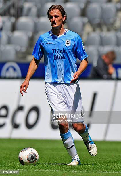 Kai Buelow of Muenchen in action during the 2 Bundesliga match between TSV 1860 Muenchen and FSV Frankfurt at Allianz Arena on July 28 2013 in Munich...