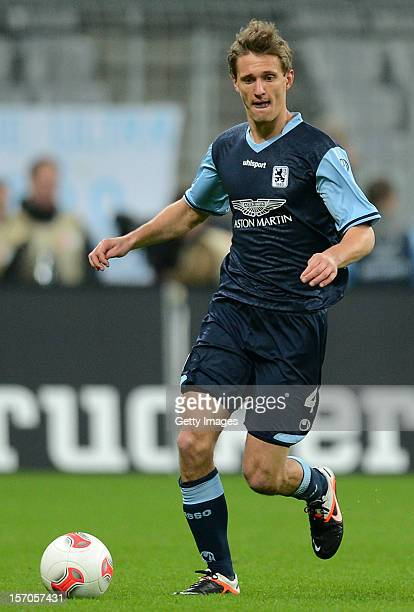Kai Buelow of Muenchen reacts during the Second Bundesliga match between 1860 Muenchen and SC Paderborn at Allianz Arena on November 27 2012 in...