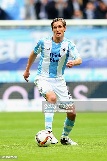 Kai Buelow of Muenchen runs with the ball during the 2 Bundesliga match between TSV 1860 Muenchen and VfL Bochum at Allianz Arena on February 21 2016...