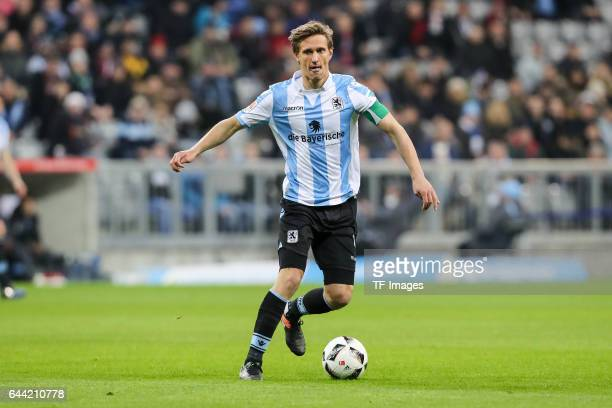 Kai Buelow of TSV 1860 Muenchen controls the ball during the Second Bundesliga match between TSV 1860 Muenchen and 1 FC Nuernberg at Allianz Arena on...
