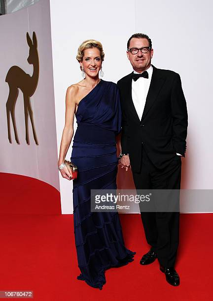Kai Diekmann and Katja Kessler arrive for the Bambi 2010 Award at Filmpark Babelsberg on November 11 2010 in Potsdam Germany