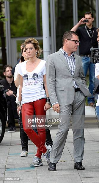 Kai Diekmann and Katja Kessler attend at the Justin Bieber concert at the BILDZeitung on June 8 2012 in Berlin Germany