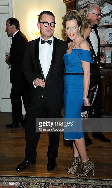 Kai Diekmann and Katja Kessler attend the 'ChampagnePreis fuer Lebensfreude' at the Hotel Louis C Jacob on May 14 2012 in Hamburg Germany