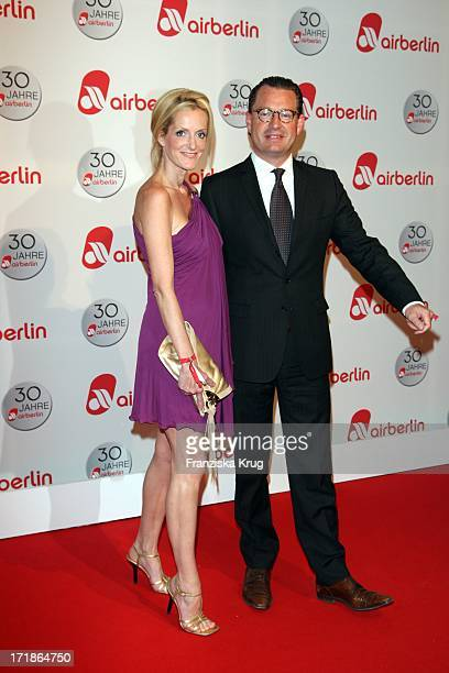 Kai Diekmann and wife Katja Kessler at the '30 Years of Air Berlin' Gala In Estrel Hotel in Berlin on 280409