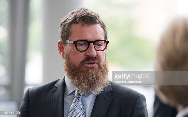 Kai Diekmann Editor in Chief of German Tabloid Bildzeitung attends the presentation of a plaque for former german chancellor Willy Brandt on May 12...