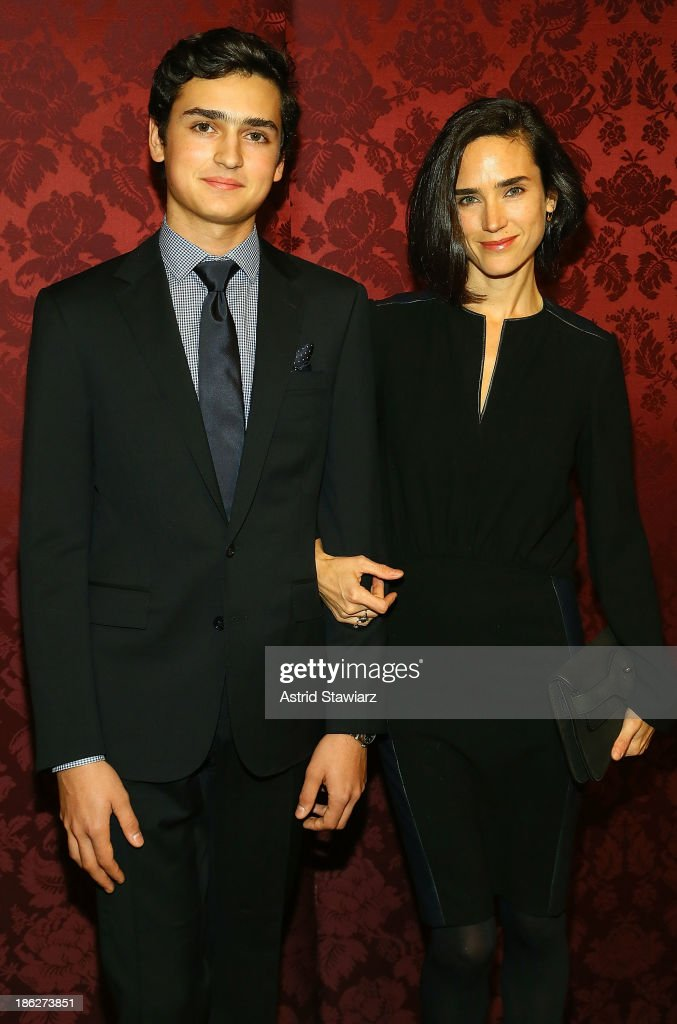 Kai Dugan and <a gi-track='captionPersonalityLinkClicked' href=/galleries/search?phrase=Jennifer+Connelly&family=editorial&specificpeople=201581 ng-click='$event.stopPropagation()'>Jennifer Connelly</a> attend the 19th Annual Artwalk NY at 82 Mercer on October 29, 2013 in New York City.