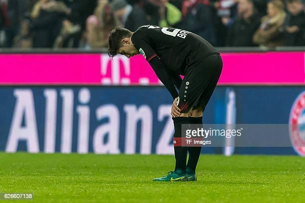 Kai Havertz of Bayer 04 Leverkusen show their disappointment after the Bundesliga match between FC Bayern Muenchen and Bayer 04 Leverkusen at Allianz...