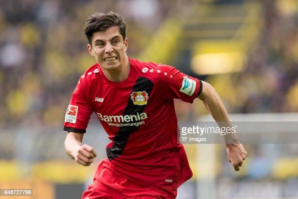 Kai Havertz of Bayer Leverkusen looks on during the Bundesliga match between Borussia Dortmund and Bayer 04 Leverkusen at Signal Iduna Park on March...