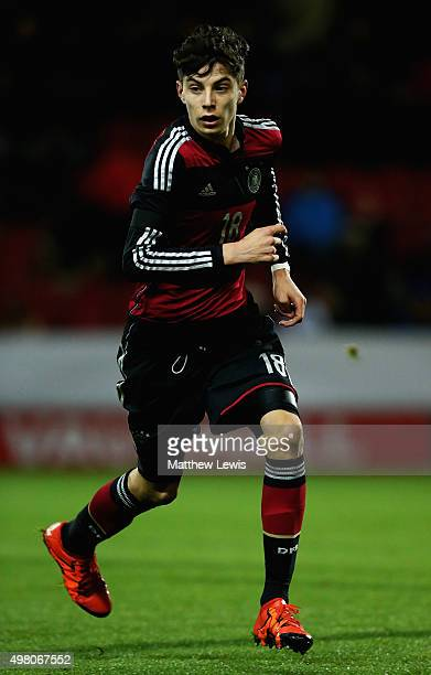 Kai Havertz of Germany in action during the International U17 Friendly match between England U17 and Germany U17 at the New York Stadium on November...
