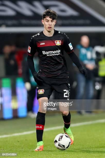 Kai Havertz of Leverkusen controls the ball during the Bundesliga match between FC Augsburg and Bayer 04 Leverkusen at WWK Arena on February 17 2017...