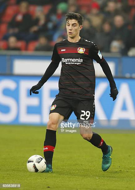 Kai Havertz of Leverkusen in action during the Bundesliga match between Bayer 04 Leverkusen and SC Freiburg at BayArena on December 3 2016 in...
