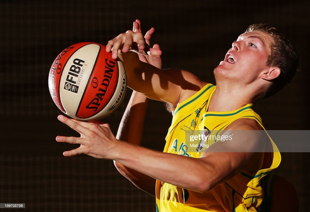 Kai Healy of Australia Gold competes in the Men's gold medal playoff against Australia Green during day four of the Australian Youth Olympic Festival at Sydney Boys High School on January 19, 2013 in Sydney, Australia.