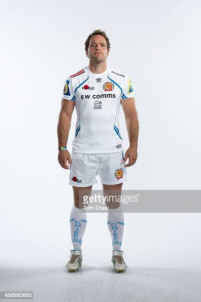 Kai Horstmann of Exeter Chiefs poses for a picture during the BT Photo Shoot at Sandy Park on August 26 2014 in Exeter England