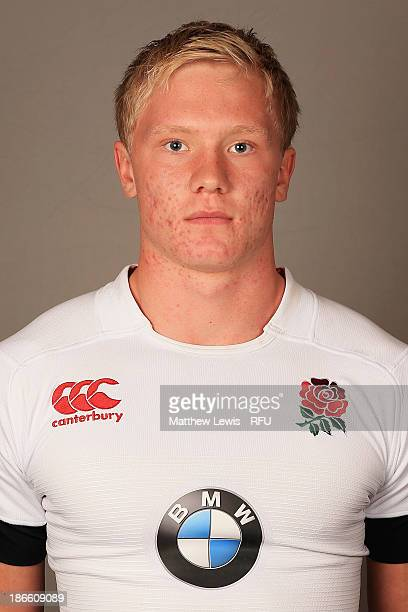 Kai Little of England U18's poses for a portrait during an England Rugby Union U18's Headshot session at Loughborough University on November 1 2013...